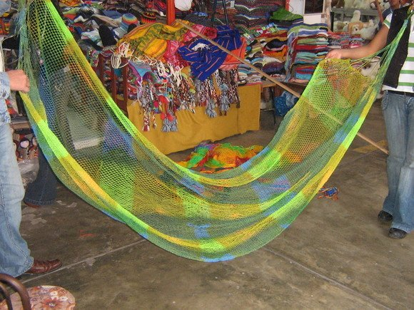 Original colorful hammok from Amazon area of Peru