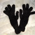 Black alpaca wool gloves,very soft mittens