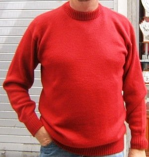 Red sweater,turtleneck made of Baby Alpacawool