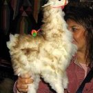 Fur alpaca figure, a soft toy handmade
