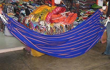 Fabric hammok from Amazon area of Peru
