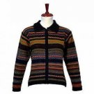 Alpaca wool cardigan, casual Jacket