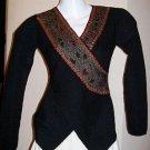 Black longsleeve Blouse, pure Alpaca wool