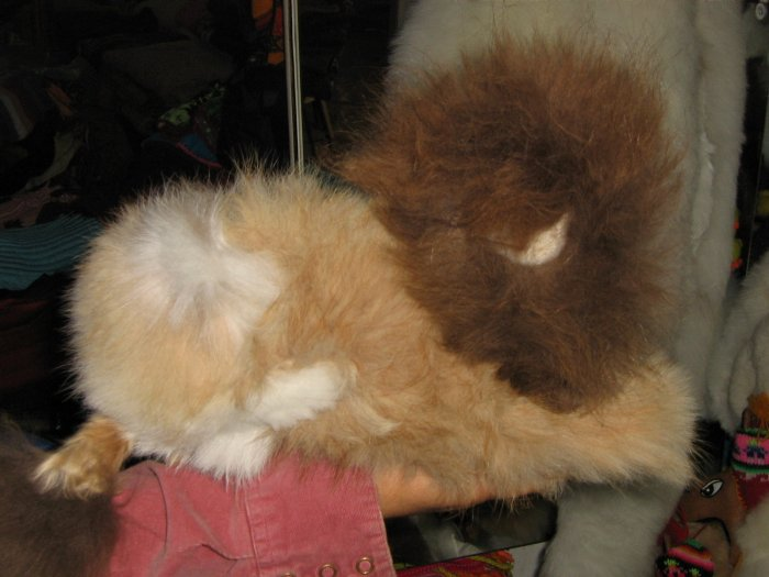 Soft toy Lion made of alpaca pelt