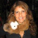 Brown alpaca pelt stola, soft fur shawl