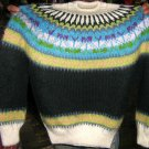 Colorful turtleneck,sweater made of alpacawool