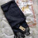 Black alpacawool fabric scarf,neck scarf, unisex