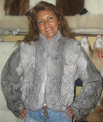 chinchilla pelt, fur,cincilla jacket coat