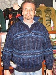 Blue turtleneck for men,sweater made of Alpaca wool