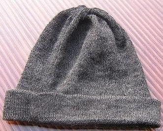 Gray Beanie hat made of alpaca wool,