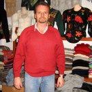 Red sweater made of Babyalpaca wool