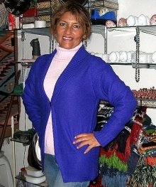Combination of a Cardigan and sweater, Alpacawool