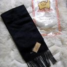 Black alpacawool scarf, neck scarf