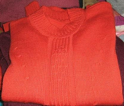 Red sweater made of Alpaca wool, all sizes
