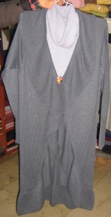 Combination Coat and sweater made of Alpaca wool