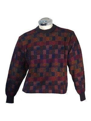 Sweater knitted of Alpaca wool, round neck