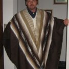 Peruvian poncho made of alpaca wool, outerwear