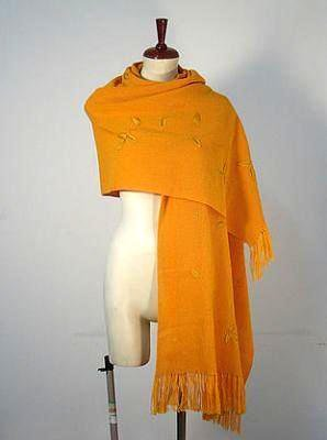 Embroidered shawl,scarf made of Alpaca wool, wrap