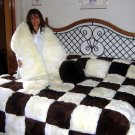 Set of fur bedspread,pilows and snake, alpaca pelt