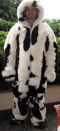 Overal made of alpaca fur, outerwear pelt
