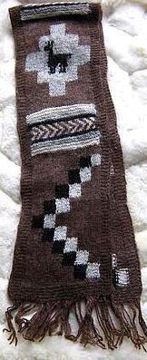 Folklorical peruvian scarf, shawl made of Alpaca wool