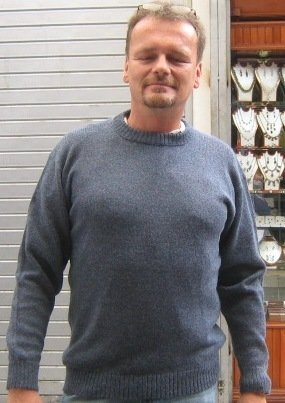 Blue sweater,feathery Babyalpaca wool