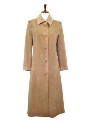 Beige long Coat,outerwear made of Babyalpaca wool