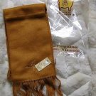 Ocher colored alpaca wool lighter scarf,neck scarf