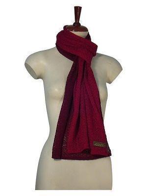 Casual crocheted scarf made of Babyalpaca wool