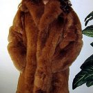 Brown Long coat made of Babyalpaca pelt,