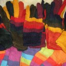 Lot of 25 pair Alpaca wool gloves, mittens in wholesale