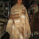 Brown poncho made of alpacawool, outerwear