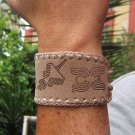 100 Ethno bracelets made of buck skin, wholesale