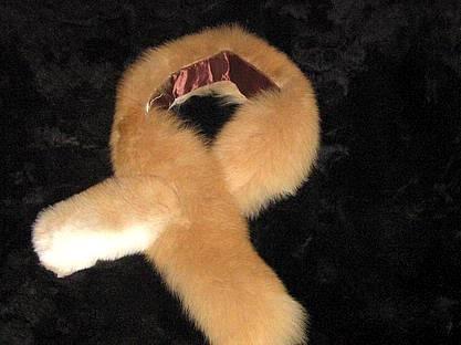 Brown alpaca pelt stola, fur shawl, soft fur neck scarf