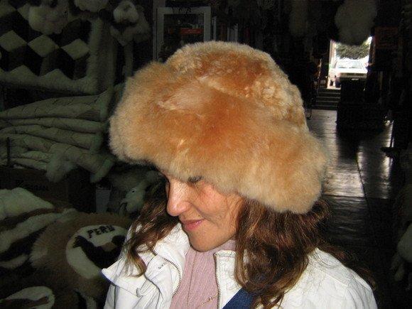 Brown hat, fur cap made of Babyalpaca fur