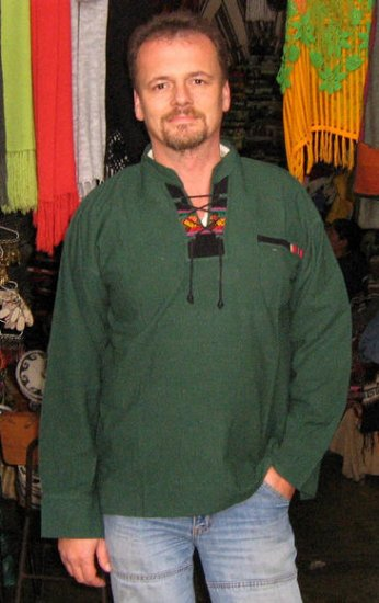 Folklorical longsleeve Shirt, pure pima cotton