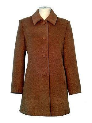 Brown coat made of babyalpaca wool, outerwear