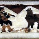 Fur Rug from Peru,campesino,carpet of 35 x 23 Inches