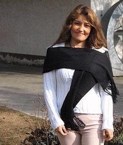 Black scarf,shawl made of Alpaca wool
