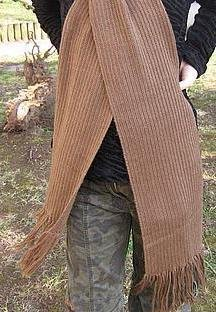 Brown scarf,shawl made of Alpaca wool