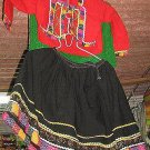 Ethnic peruvian dance costume from Cusco in Peru