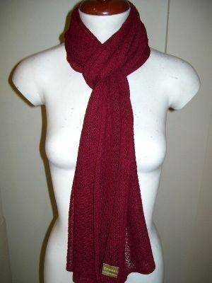 Crocheted scarf,shawl made of Babyalpaca wool