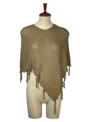 Weaved wrap in a Poncho style, Babyalpaca wool