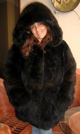 Babyalpaca double furred hood jacket, outerwear
