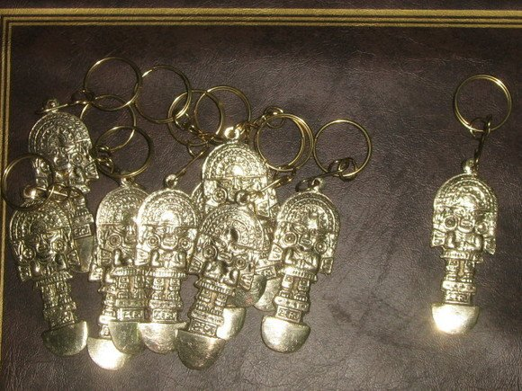 Lot of 12 Keyholder, bronze, Tumi design,wholesale