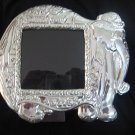 Picture Frame,massive Mahogany ,silver 950 decor