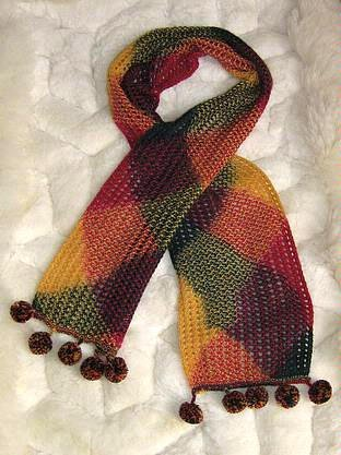 Ethnic peruvian scarf , shawl made of Rabbit wool