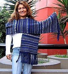 Alpaca wool scarf, shawl with 78 Inches, blue wrap