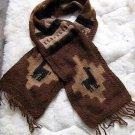 Folklorical peruvian scarf,pure Alpaca wool,handknitted
