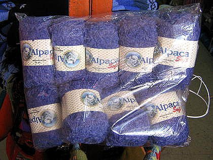 1.1 pound pure blue Babyalpaca wool,knitting wool